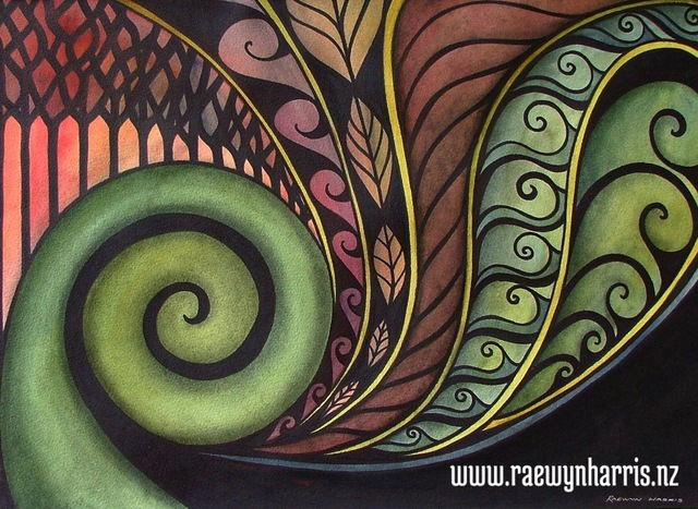 inspiration koru art landscapes paintings aotearoa new zealand koru maori nature. Black Bedroom Furniture Sets. Home Design Ideas