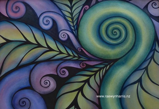 Harmony Koru Art Landscapes Paintings Aotearoa New