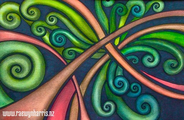 Tangled Koru Koru Art Landscapes Paintings Aotearoa